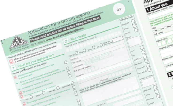 Application for driving Licence