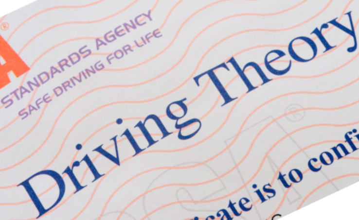 Driving Theory test Certificate